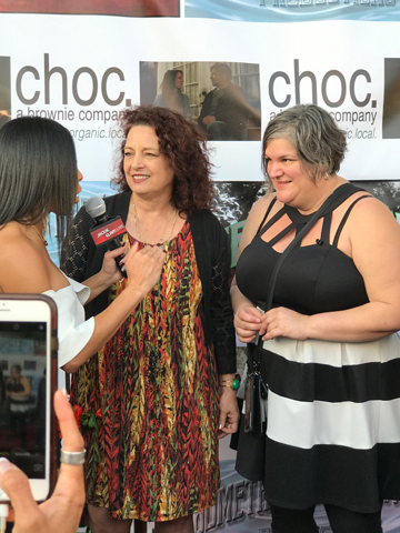 Shea and Stacey on red Carpet premier Trouble Creek